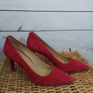 Michael Kors red suede pumps nwot size 9